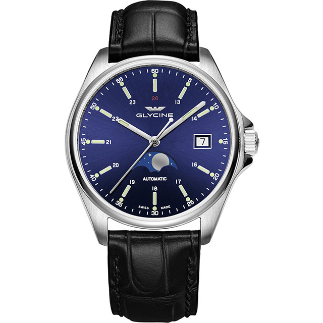Orologio Glycine Watch Combat Classic Moonphase GL0113